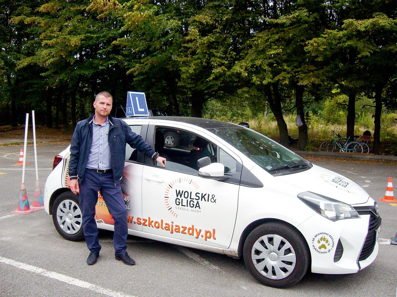 Rafał Wolski ze szkoły jazdy Wolski&Gliga