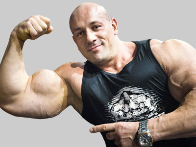 Robert Burneika, kulturysta i właściciel siłowni Burneika Sports Gym