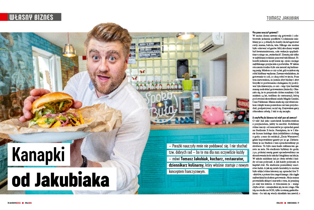 Tomasz Jakubiak, kucharz, restaurator, dziennikarz kulinarny