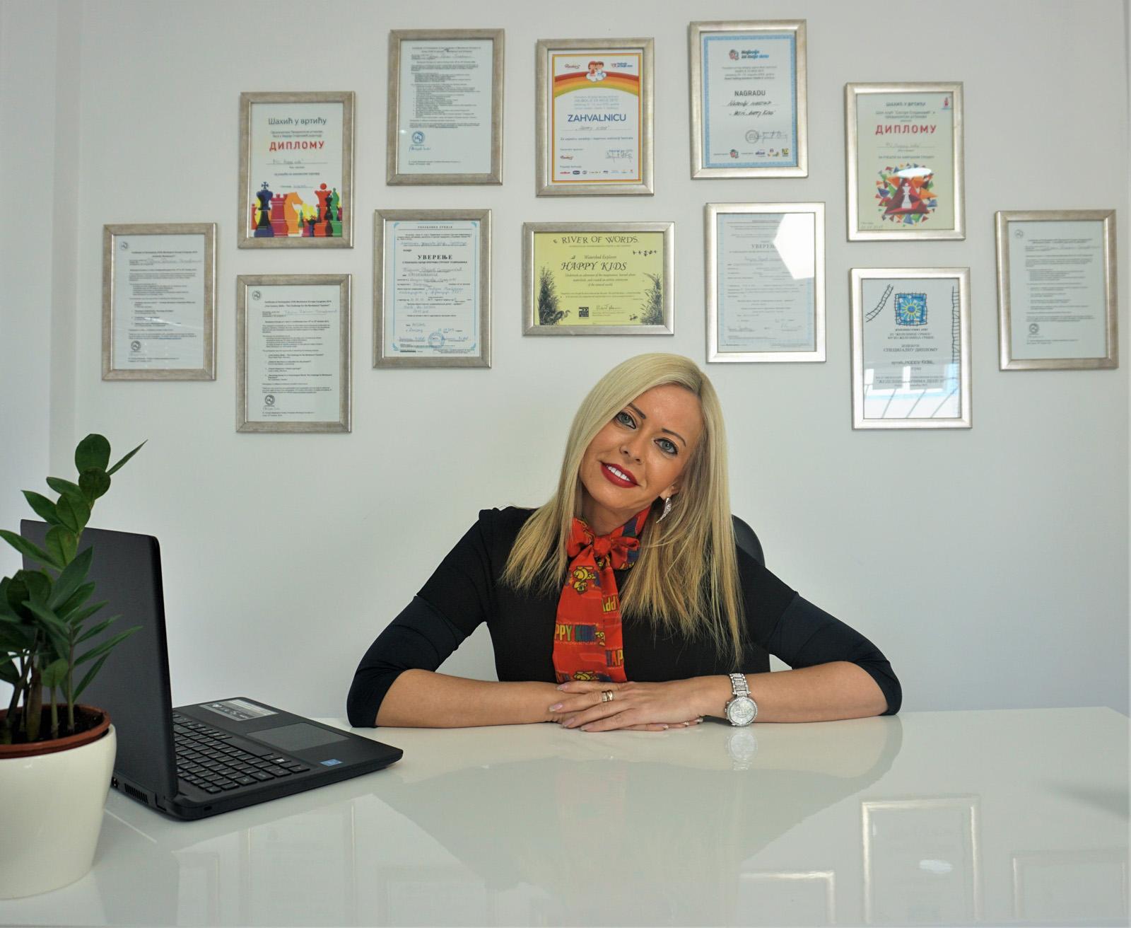 Tatjana Rackov Sinadinović, vlasnica predškolske ustanove Happy Kids