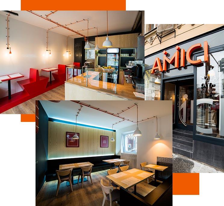 Viditelná a dostupná restaurace