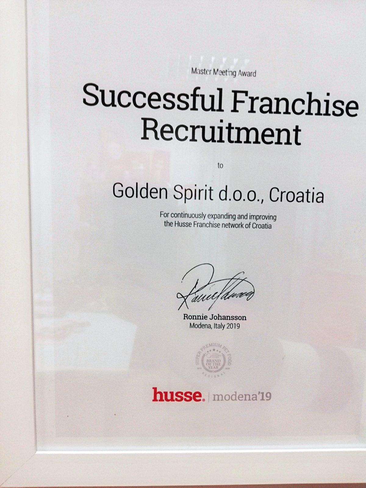 Priznanje za Husse tim iz Hrvatske
