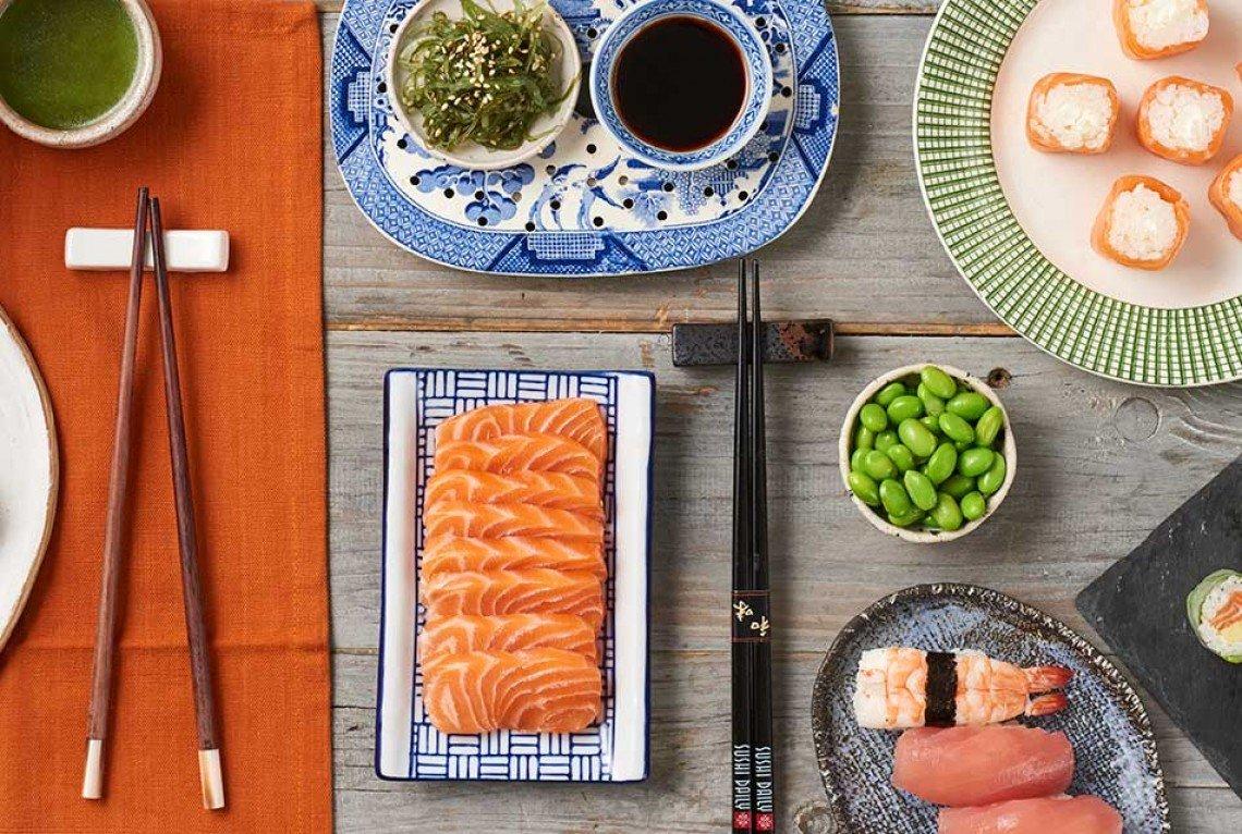 Il concept del cibo asiatico di qualità