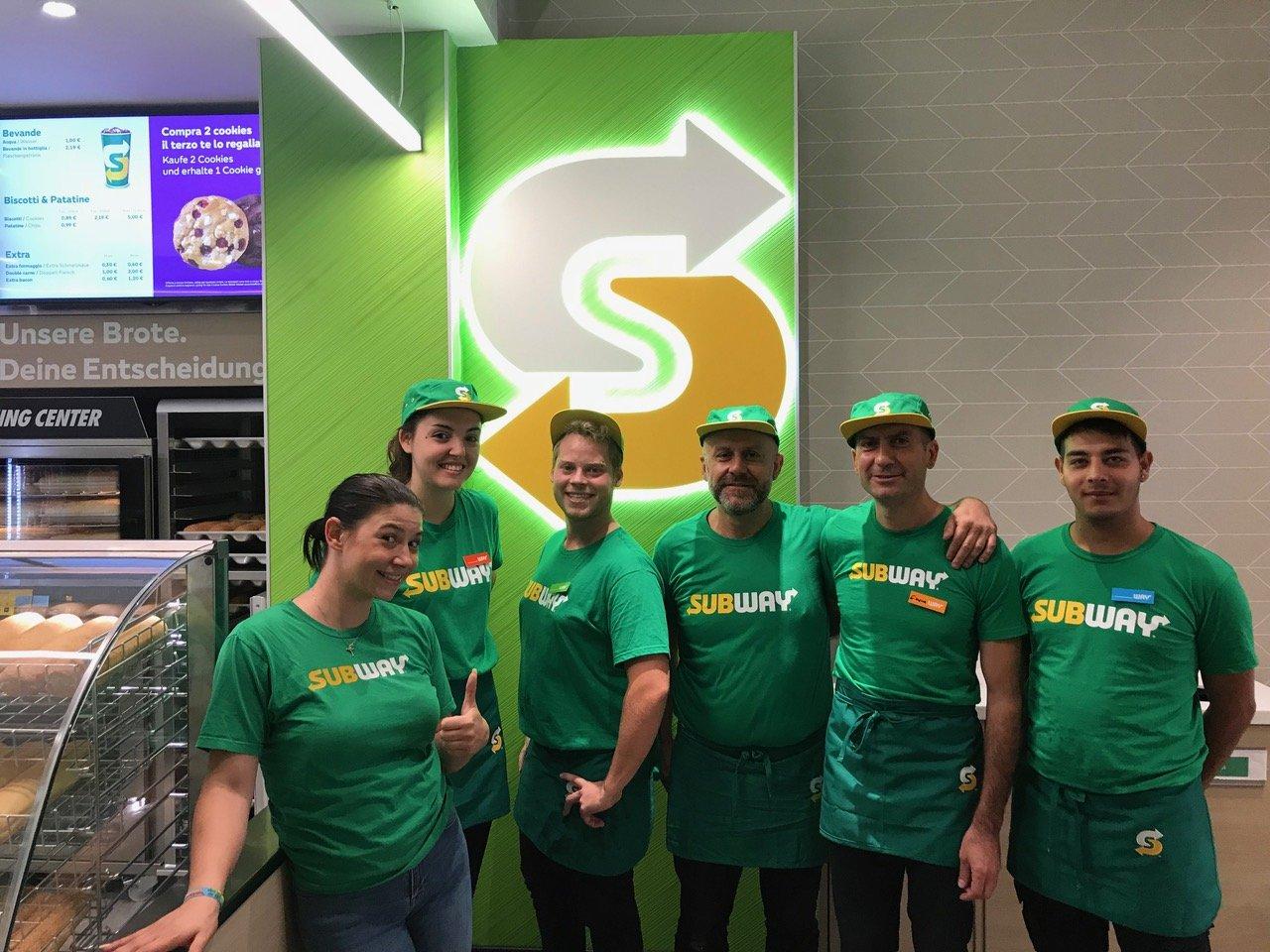 Il team Subway di Bolzano