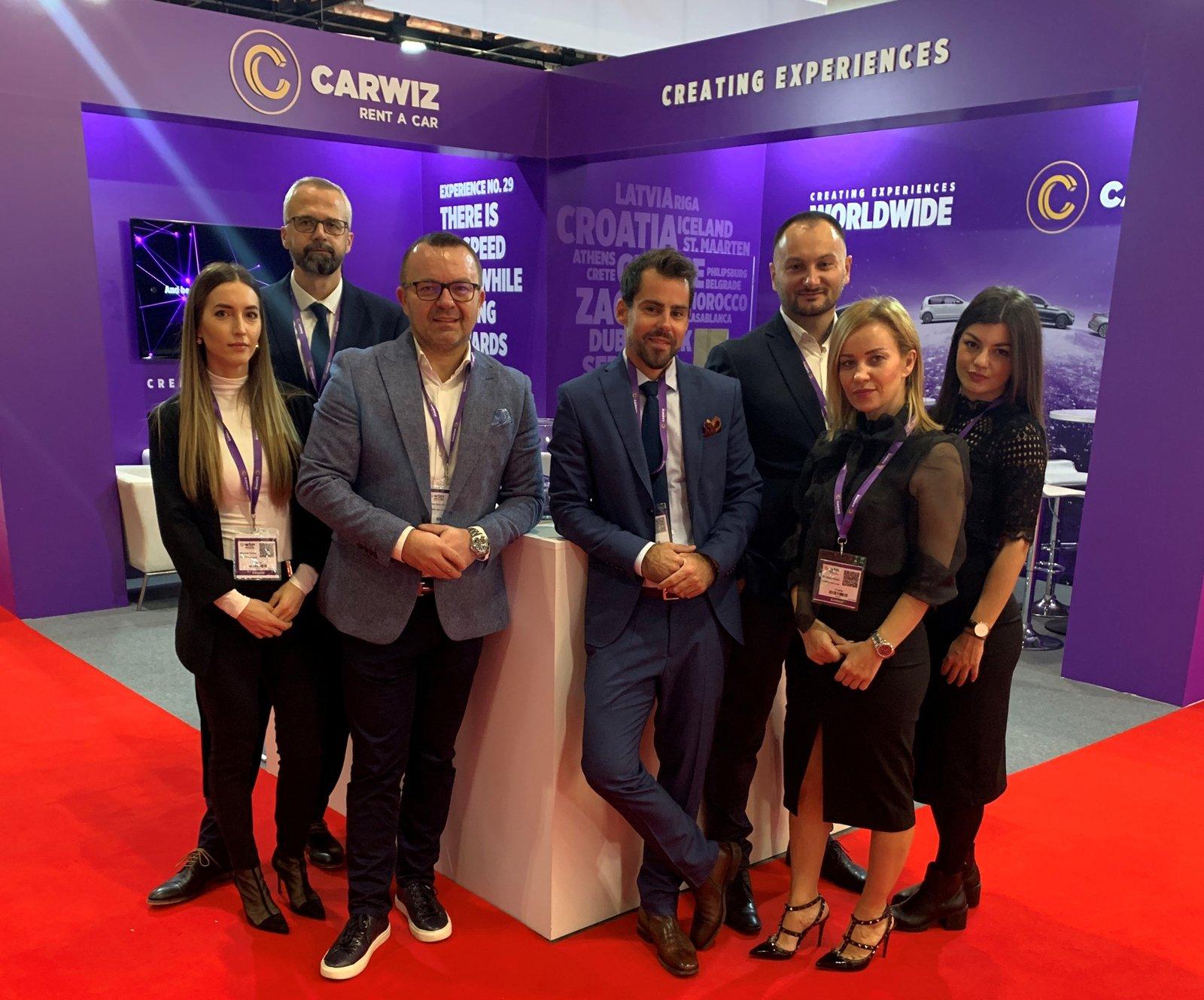 Тимот на Carwiz на WTM саемот во Лондон