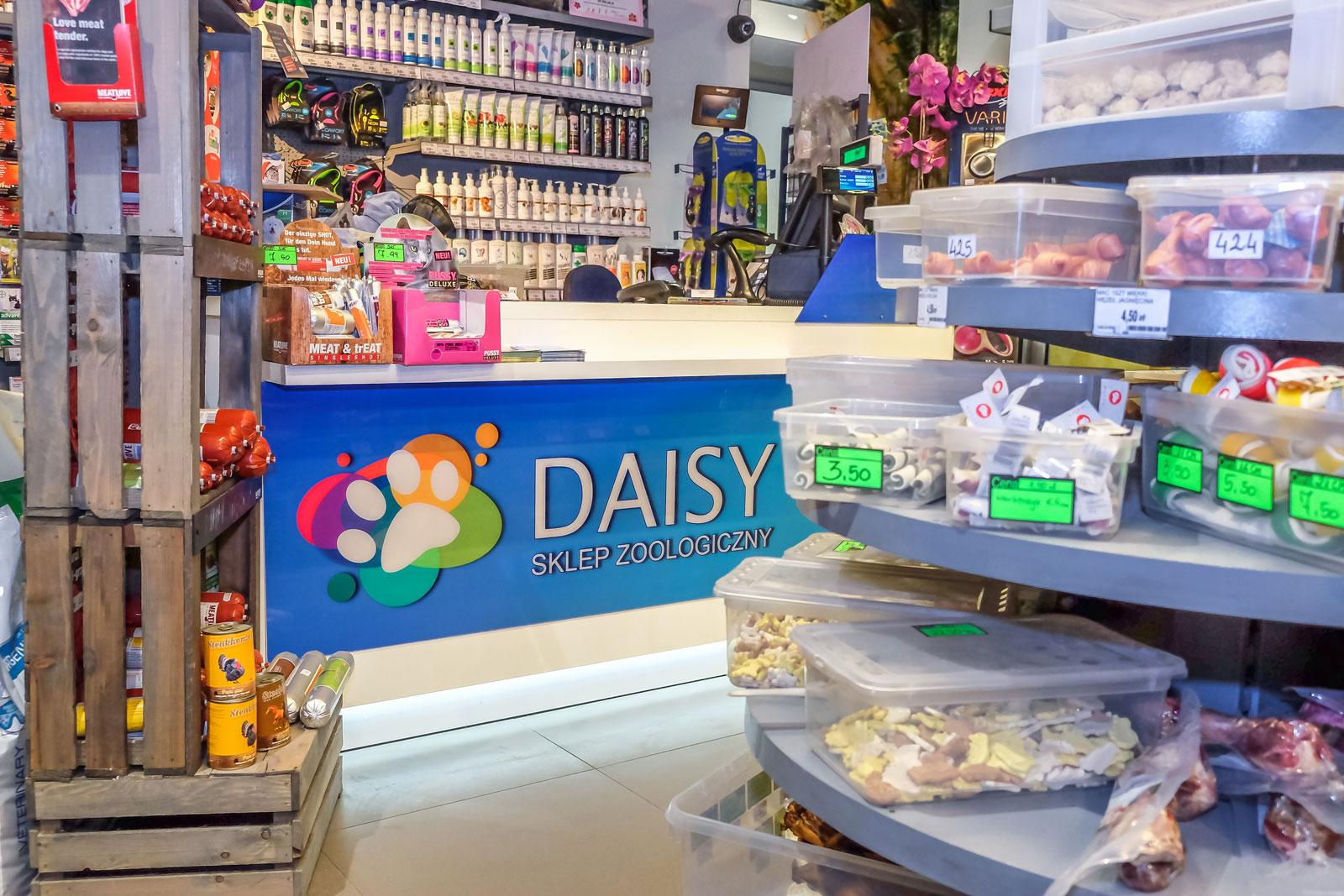 Daisy – Sklep Zoologiczny, wnętrze sklepu