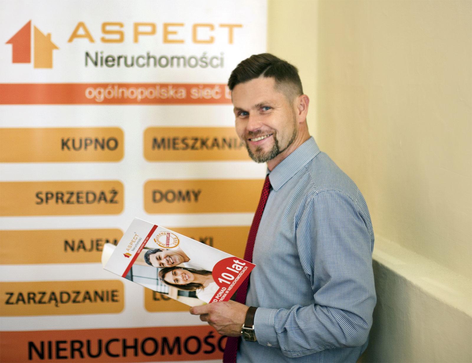 Tomasz Barski, właściciel Aspect Nieruchomości