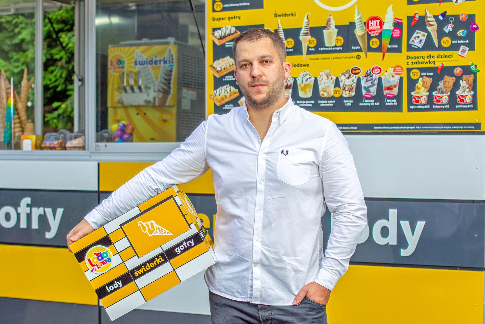 Marcin Olesiak, właściciel Sweet Gallery