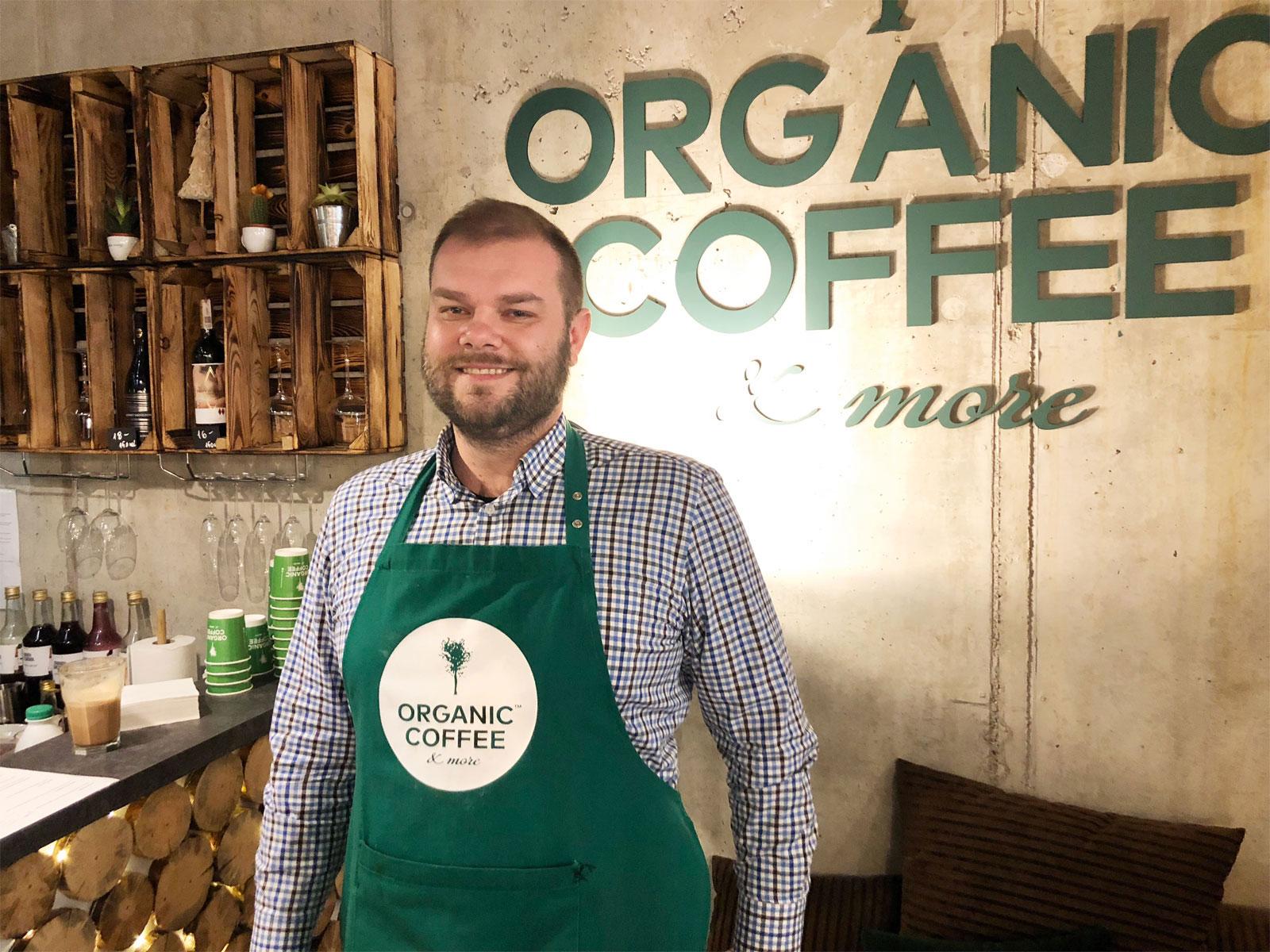 Grzegorz Sidorczuk, franczyzobiorca Organic Coffee & more