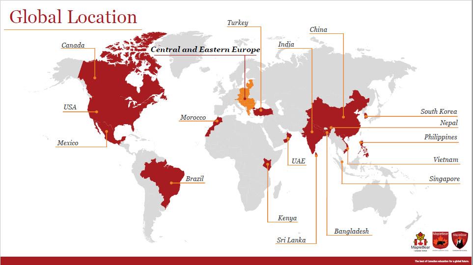 Peste 380 de grădinițe, școli primare și secundare în 17 țări și mai mult de 40.000 de studenți